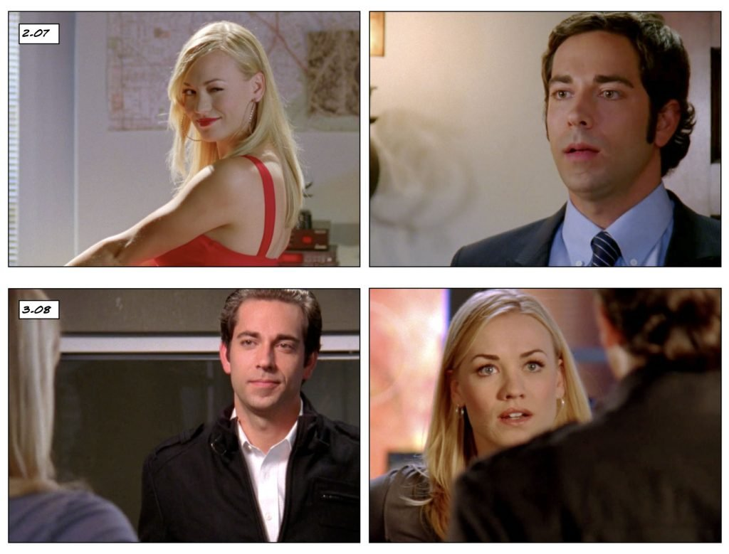 Chuck 2.07 vs 3.08 technically, objectively attractive